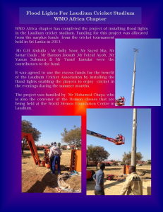 Floodlights donated from WMO