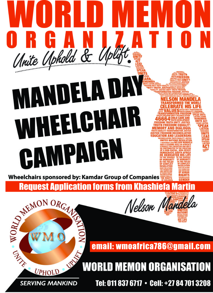 Mandela Day wheel chair campaign